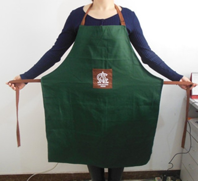 2016 china manufacture cheap customized kitchen apron 100 cotton cooking aprons - Kitchen Apron