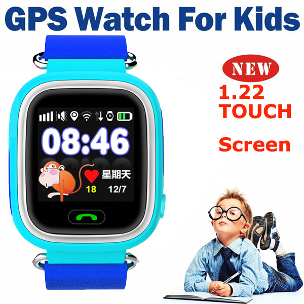 ФОТО 2016 New Kids smart GPS Tracker Watch Children Smart 1.22 Touch Screen Watch With SOS Support GSM Phone Android& IOS Anti Lost