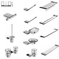 Square Bathroom accessories Set Robe Hook Towel Shelf Towel Bar Towel Holder Toilet Paper Holder Bathroom Hardware EL85900