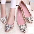 Sapatos femininos женщины rhinestone вскользь плоские туфли милые дамы партия ночной клуб квартиры сверкающих женский высокое качество плоские туфли