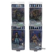 NECA ALIENS Series Xenomorph Warrior Private Jenette Vasquez PVC Action Figure Collectible Model Toy 17 21cm