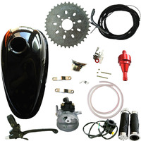 Oil Tank &Red Air Filter&Carburetor Fits 66cc 80cc Motorized Bicycle