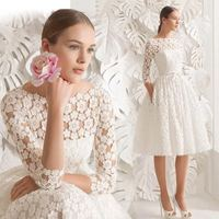 2020 New Autumn Lady Lace Dress For Weddig Party O Neck Half Sleeve Women Princess Banquet Prom Evening Gowns