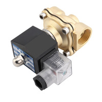 2018 new Practical 3/4 Inch DC 24V 2W Square Coil Pure Copper Direct Acting Solenoid Valve Single Electromagnetic Valve