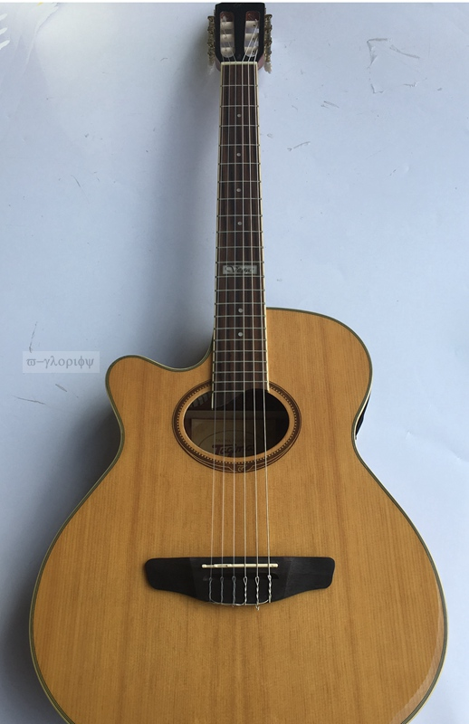 vegas left acoustic-electric guitar with tuner free bag free shipping vegas left hand natural color acoustic electric guitar free bag free shipping