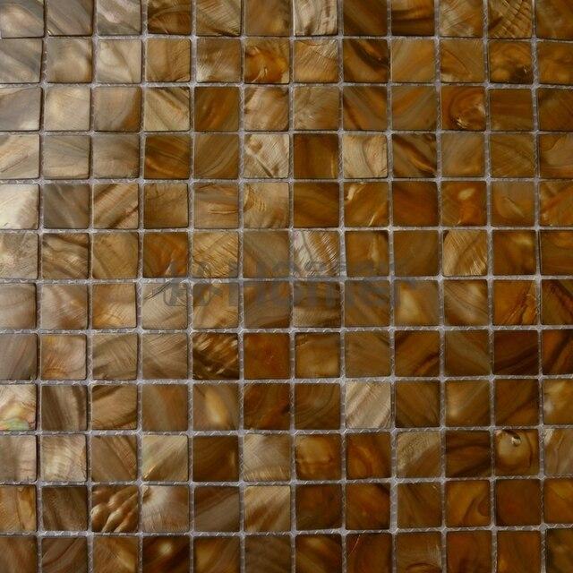 Brown Shell mosaico, baño, azulejos de mosaico backsplash de la ...