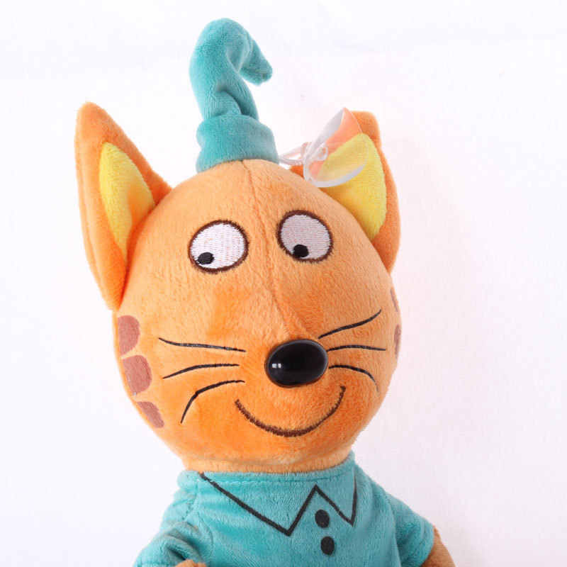 3 قطعة/الوحدة أحدث هذه الروسية سعيد ثلاثة القطط لينة الحيوانات الكرتون القط أفخم محشوة لعب للأطفال الأطفال هدية دمية 20 cm