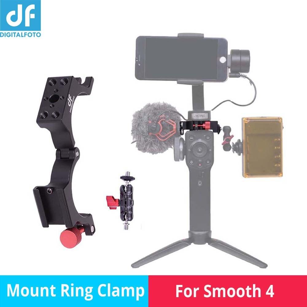 DIGITALFOTO FOURMI Microphone Mont Clamp Froid Chaussure Adaptateur Anneau Compitiable Zhiyun Lisse 4 3-axe Cardan De Montage Accessoires Micro