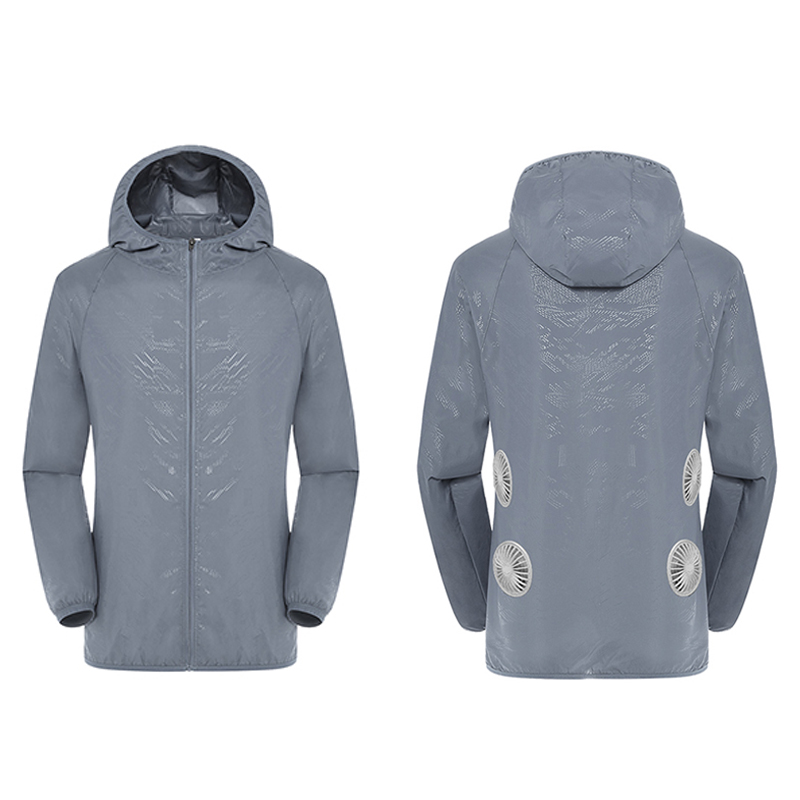 Air-Conditioned Clothes 3-speed USB Air Conditioning Jacket With 4 Fans Waterproof Anti-UV Fishing Suit Unisex Available
