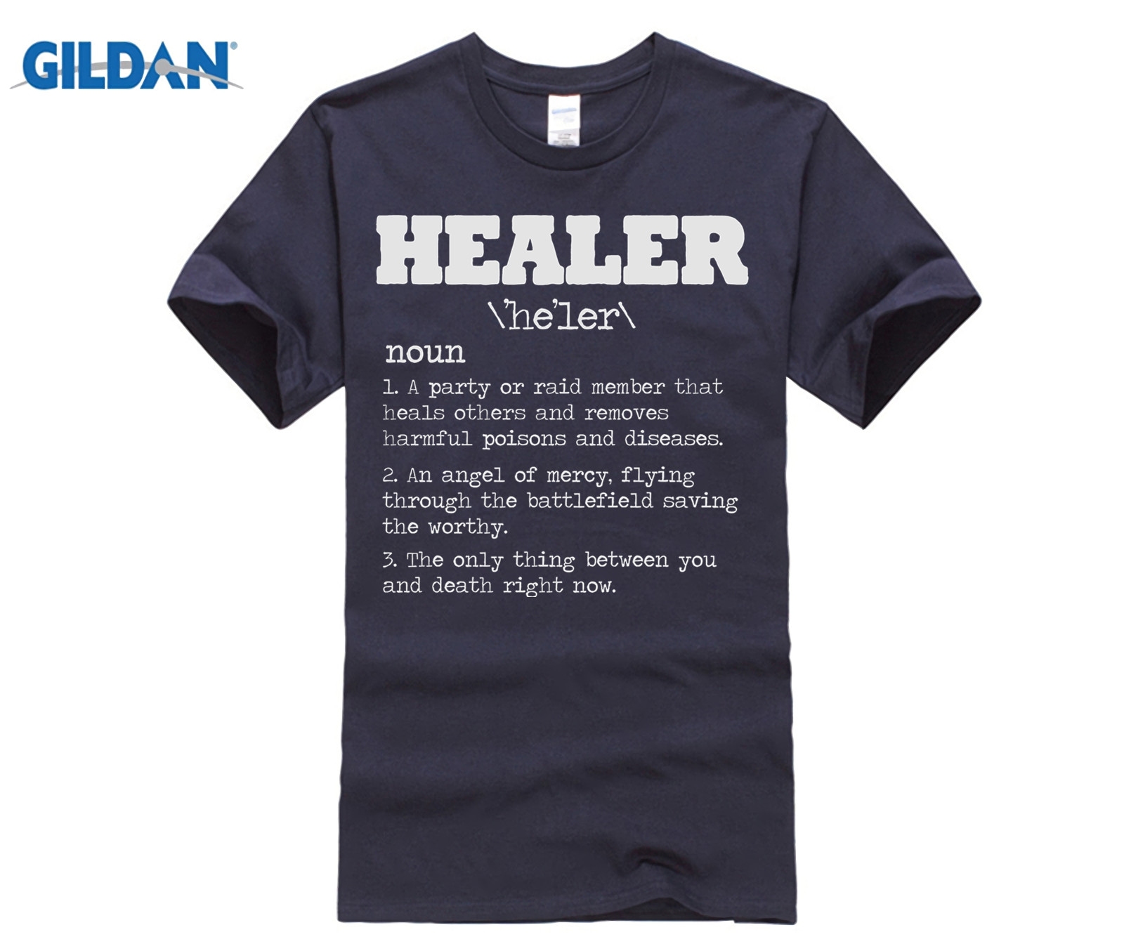 US $11 99 |GILDAN Healer RPG Gamer T Shirt Video Game MMORPG PC Gamer WoW  Horde Alliance Rogue Summer Cotton T Shirt Fashion-in T-Shirts from Men's