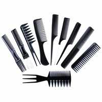 10 pcs women hair comb plastic Anti-static Hairdressing Combs Hair Care Styling Tools Professional Salon Barber Hair brush
