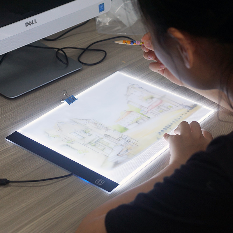 Pratical Acrylic LED Drawing Board Ultra Thin 35mm A4 Drawing Pad Sketching Book Blank Canvas for Painting Without Radiation  makeup brushes