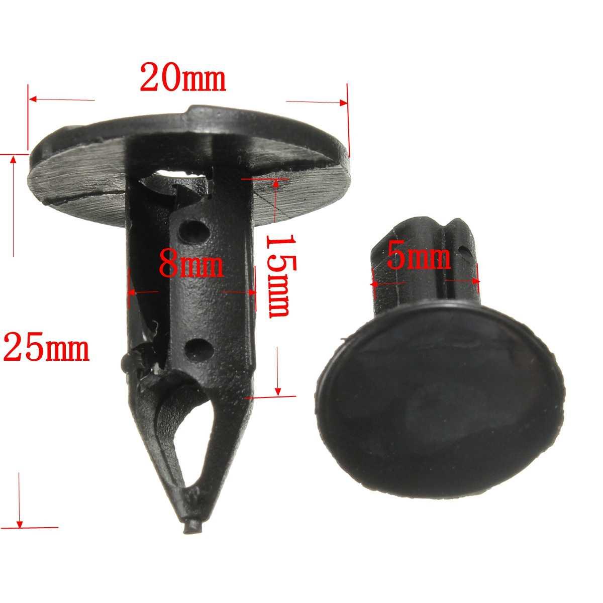 10 adet 20mm otomatik çamurluk genişletici çamurluk çamur Flaps tekerlek Arch tampon klipler raptiye LAND ROVER DISCOVERY P38 ANR2224