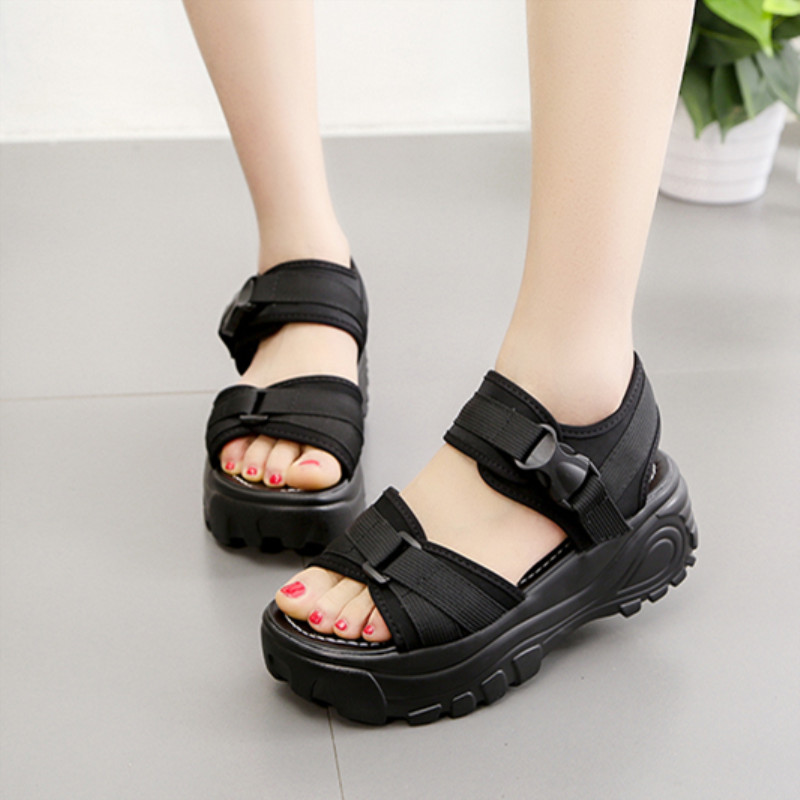 Platform Sandals Summer Shoes Female Fashion Women's Muffin Student New Casual