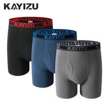 KAYIZU 3 Stücke Männer Under Solide Baumwolle Boxer Plus Größe Männer Unterwäsche Bequeme Boxershorts Männlichen Höschen Unterhose