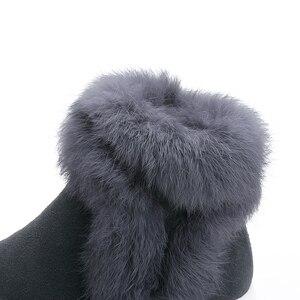 Image 5 - SWYIVYของแท้หนังผู้หญิงฤดูหนาวWarm Rabbit Furรองเท้าผ้าใบหิมะรองเท้าผู้หญิง2019รองเท้าบู๊ทข้อเท้าหญิงCausalรองเท้า
