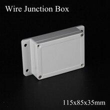IP65 115x85x35 мм, водонепроницаемая распределительная коробка, пластиковая коробка для проекта, электрический разъем, Клемма, открытый корпус, коробка для настенного монтажа