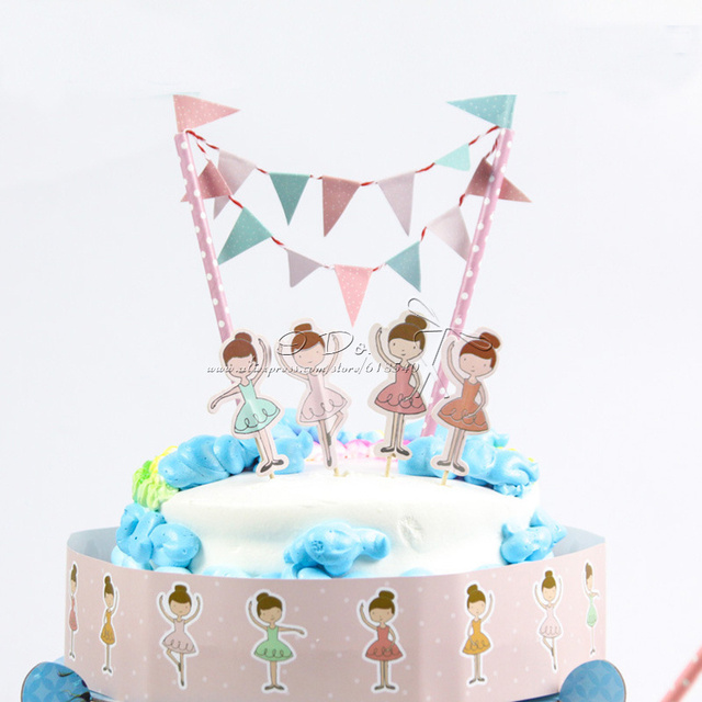 Free Shipping Dancing Girl Birthday Cake Topper Birthday Party