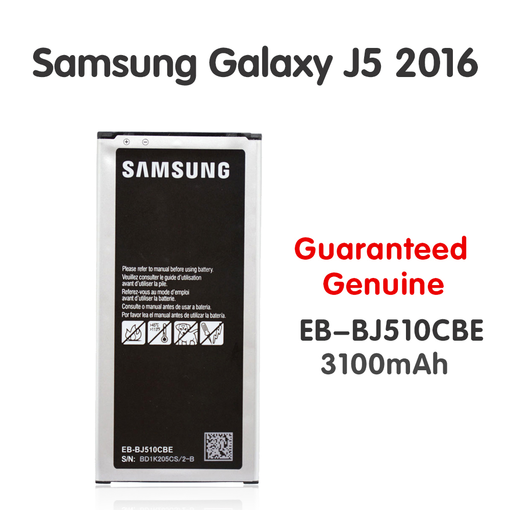 Original <font><b>Samsung</b></font> <font><b>Battery</b></font> EB-BJ510CBE For Galaxy J5 2016 Edition <font><b>J510</b></font> J510FN J510F J510G J510Y J510M Phone Batteria 3100mAh Akku image