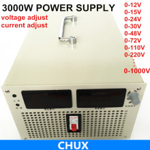 big walt 3000W 0-12v 15v 24v 48v 72v 110v adjustable Switching power supply AC to DC for led light, Laboratory test