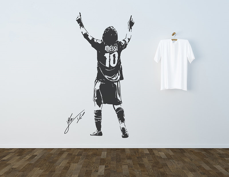 3d Poster Football Star Wall Decal Sticker Soccer Player Argentina ...