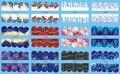 Na venda!! 1 Lote de 10 artigos 12 New Style Nail Art Água Etiqueta Do Natal de Neve fundo azul em 2016 para BN205-216