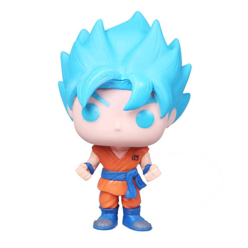 Funko POP Figura de Ação de Dragon Ball Z SUPER SAIYAN DEUS SUPER SAIYA GOKU Boneca Collectible Modelo brinquedos para chlidren aniversário presente