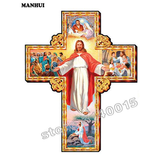 diy diamond painting jesus crosses 3d square drill diamond mosaic