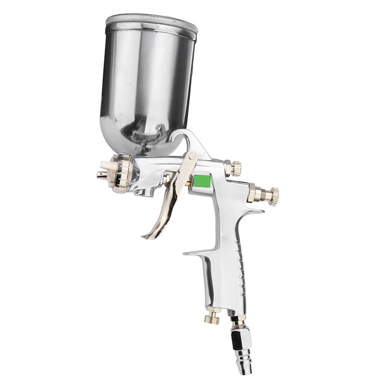 400ml HVLP Paint Spray Gun For Paint & Decorating Power Tools, 1.0MM / 1.3MM / 1.5MM/ 1.8MM Stainless Steel Nozzle High Quality eyki h5018 high quality leak proof bottle w filter strap gray 400ml