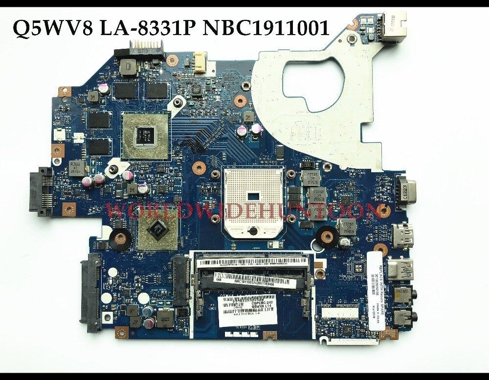 NBC1911001 NB C1911 001 For acer aspire V3 551G laptop motherboard Q5WV8 LA 8331P Socket FS1