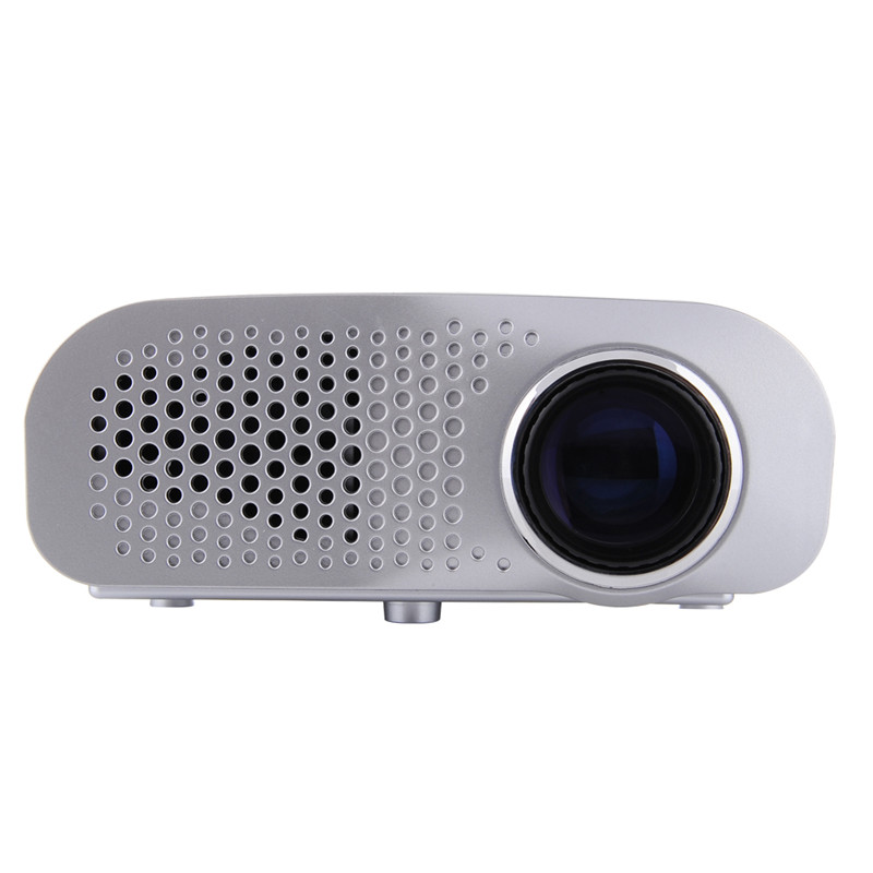 GP802A Mini Portable LED Projector 200 Lumens 480*320 Pixels Contrast Ratio 600: 1 with HDMI VGA USB AV TV SD Port Home Theater aun projector e07 for home theatre education of children 640 480 pixels led projector set in hdmi vga usd prot 1080p led tv