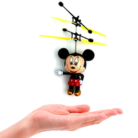 Ugrate Classic Electronic Toys Induction Flying Fly Mickey Mouse Helicopter UFO Ball Drone Drone For Kids