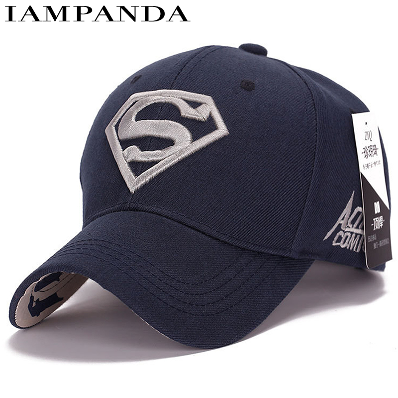 IAMPANDA Brand 2018 Gorras Superman Cap Casquette Superman Baseball Caps Men Women Bone Diamond Snapback For Adult Trucker Hat aetrue winter knitted hat beanie men scarf skullies beanies winter hats for women men caps gorras bonnet mask brand hats 2018