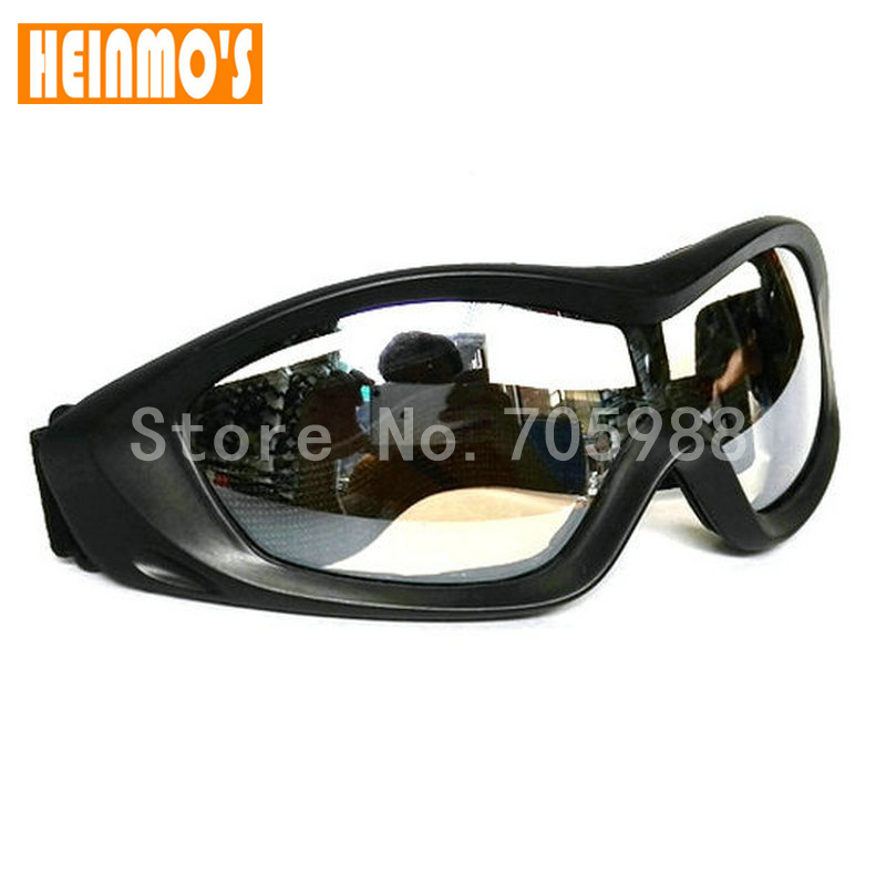 MOTO GLASSES MOTORCYCLE BIKER RIDING GOOGLE BICYCLE GLASS EYEWEAR clear lens clear frame glasses with clear lens