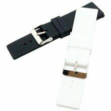 22mm 24 mm Black Silicone Strap Watch Accessories Watch Band Pin Buckle Strap WatchBand  Rubber Strap+Tool все цены