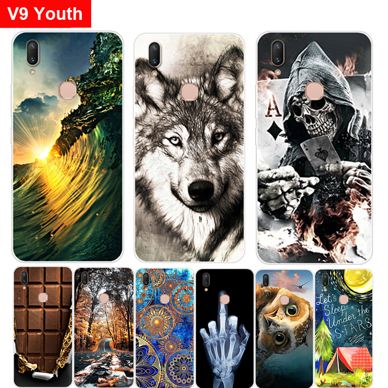 Case For Vivo V9 Youth Case Bumper Luxury Protective Back Slim Soft TPU Silicon Cover For Vivo V 9 Youth V9Youth Cases Shell