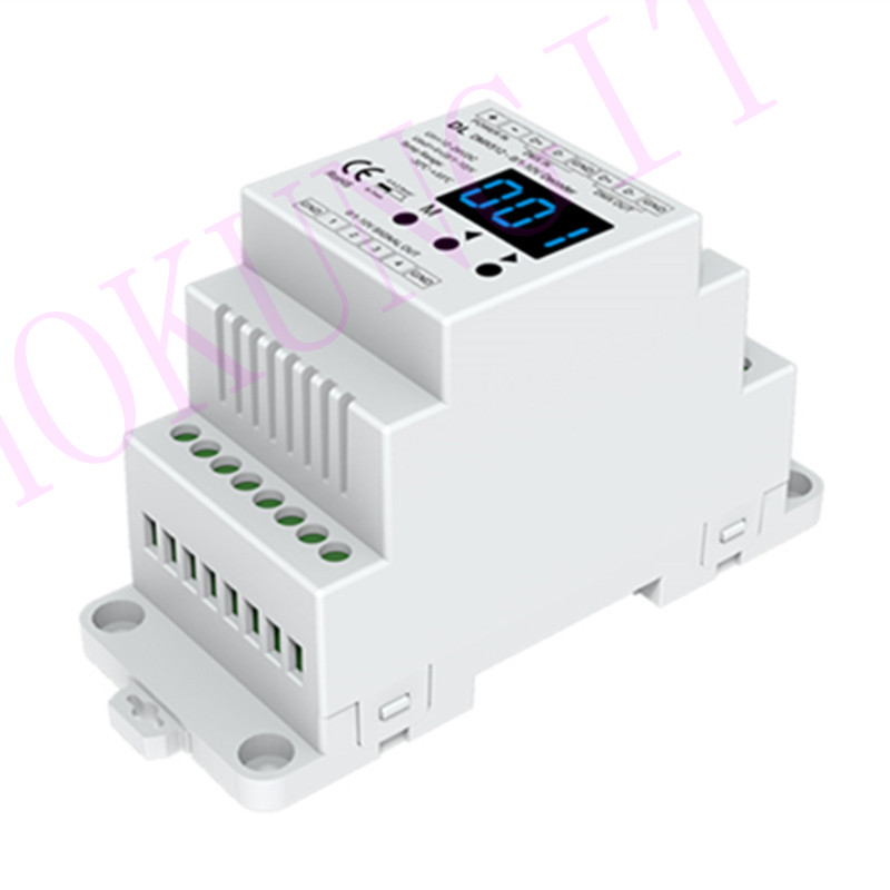 DMX512 To 4CH 0-10V Decoder DL Guideway DMX512 Signal Converter 0-10V LED Dimmer DMX 512 Signal To 0-10V Signal RGB/RGBW Control