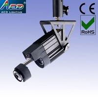 Nieuwe afstandsbediening 30 w wit 5600-6500 k mini body draaien gobo led gobo projector logo spot podium effect dj licht