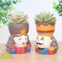 Fairytale Cartoon Resin Succulent Planter Flowerpot Craft Cactus Mini Plant Flower Pot Office Desktop Home Deco Garden Supplies