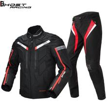 GHOST RACING  Motorcycle Jacket Protective Gear Men Moto Motocross Jacket Windproof Motorbike Cruiser Touring Clothing Raincoat duhan men s oxford cloth riding motocycle racing jacket coat with cotton liner motocross windproof clothing five protector gear