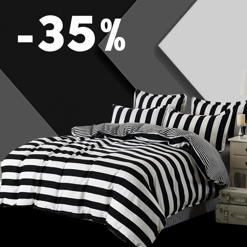 3 Pcs Duvet Cover Set Super King Queen Size Customized Bedding Sets Printing Not Ball Not Fade Bed Set Black And White