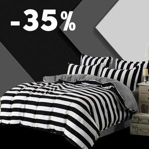 Image 1 - 3ピース布団カバーセットスーパーキングクイーンサイズカスタマイズされた寝具セット印刷ないボールをフェードしないベッドセット黒と白