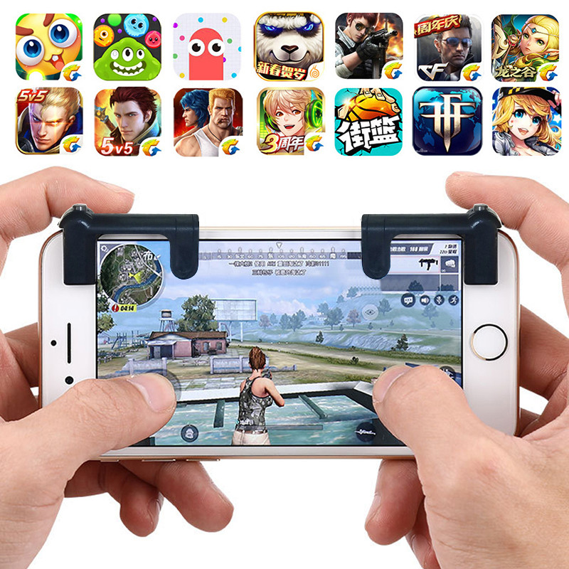 Mobile Game Fire Button Aim Key Smart phone Mobile Game Trigger L1R1 Shooter Controller PUBG V3.0 Knives out Rules of Survival