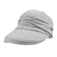 Women Bucket Hat Famous Brand Kenmont Hat Navy Blue Light Khaki Cotton Vocation Caps Outdoor Spring