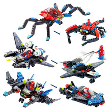 3pcs/set Super hero Spiderman Star Wars Figures Legoings Building Block Toys For Children DBP350
