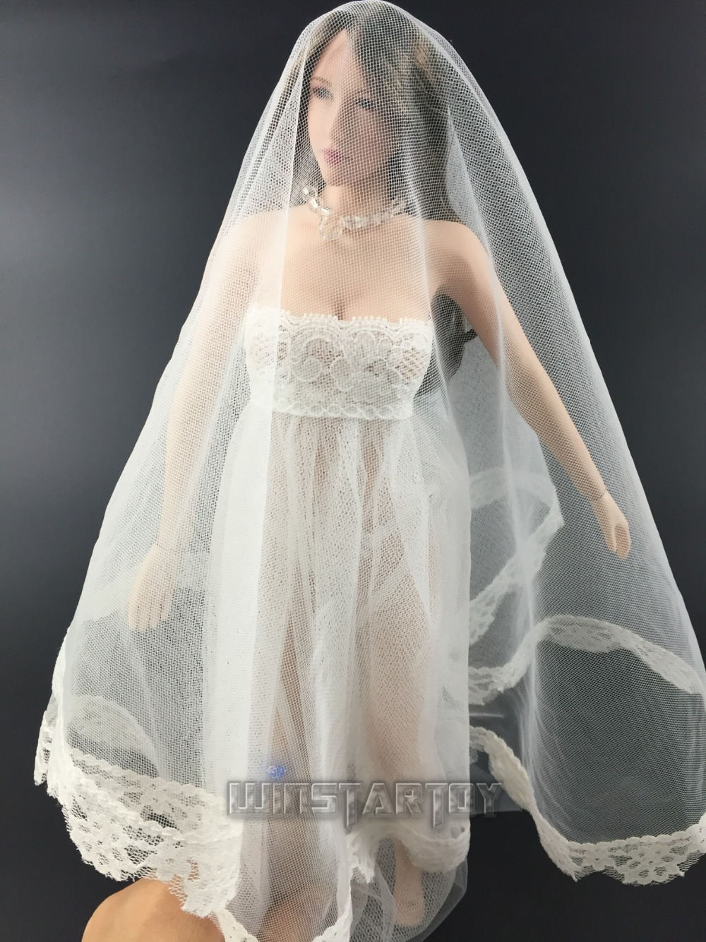 Estartek full hand made 1 6 Sexy lace wedding dress for Phicen Hot stuff  Jodoll OB action figure DIY-in Action   Toy Figures from Toys   Hobbies on  ... a246dec15148