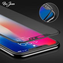 Roc Joan 3D Soft Edge Tempered Glass for iPhone X 10 Full Cover Screen Protector Flim for iPhoneX 9H