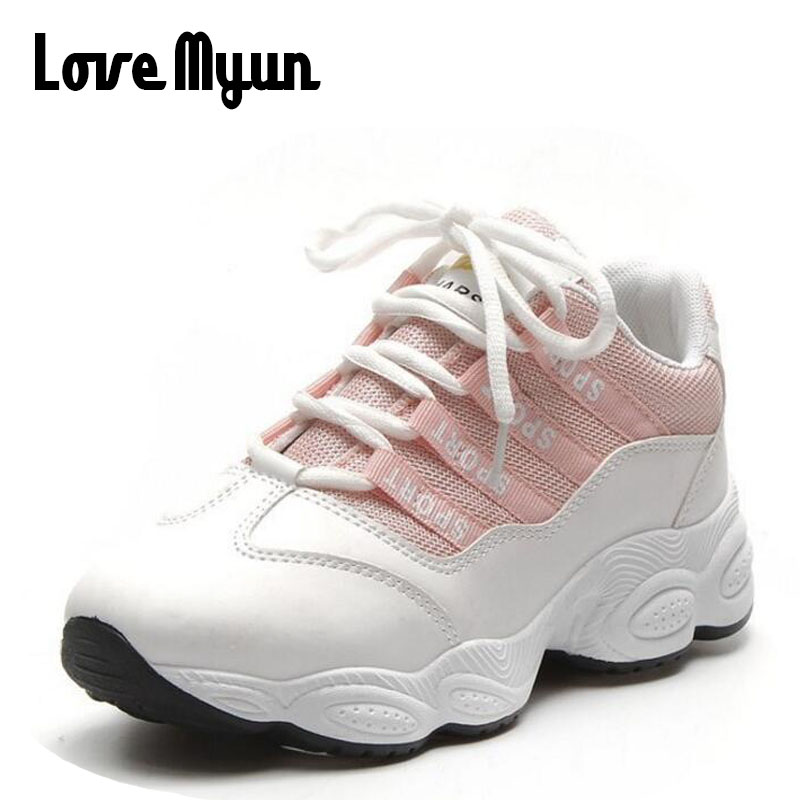 2018 Spring Women Sneakers Air mesh white shoes Breathable Soft Flats girls shoes Female Casual lace up Ladies Shoes SB-41 glowing sneakers usb charging shoes lights up colorful led kids luminous sneakers glowing sneakers black led shoes for boys