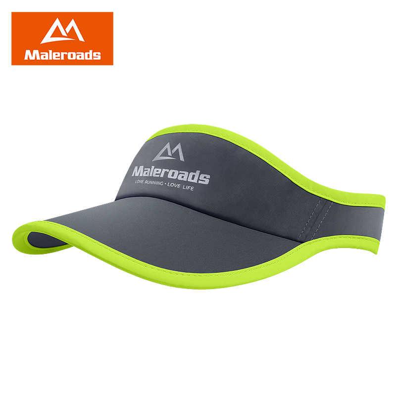 ecbdb14c Maleroads Visor Sun Cap Summer Outdoor Sport Cap Men Women Cap Marathon Hat  Sunshade for Running