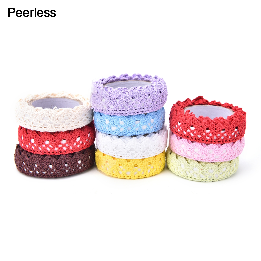 Office Adhesive Tape Tapes, Adhesives & Fasteners Hard-Working Peerless 1 M Cotton Lace Roll Scrapbooking Masking Tape Stationery Office Adhesive Tape To Have Both The Quality Of Tenacity And Hardness